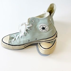 Converse all star high tops robin egg blue size 10